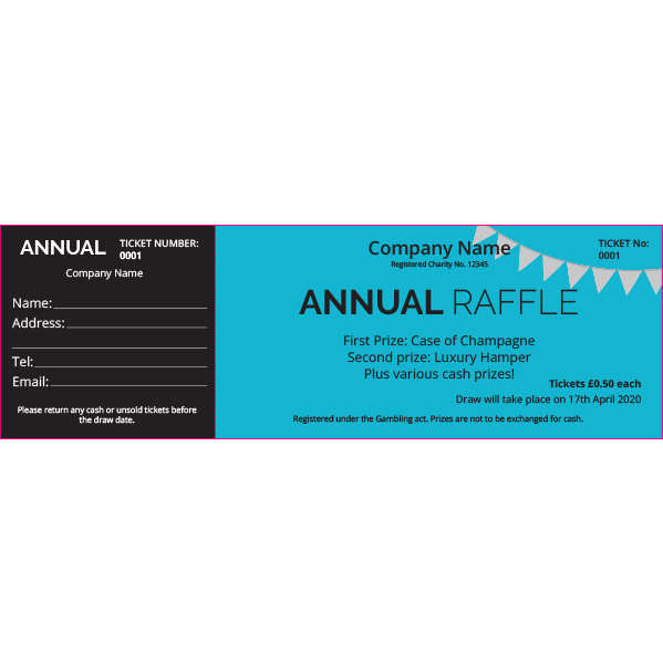 Annual Raffle Ticket 2 (Coloured Paper)