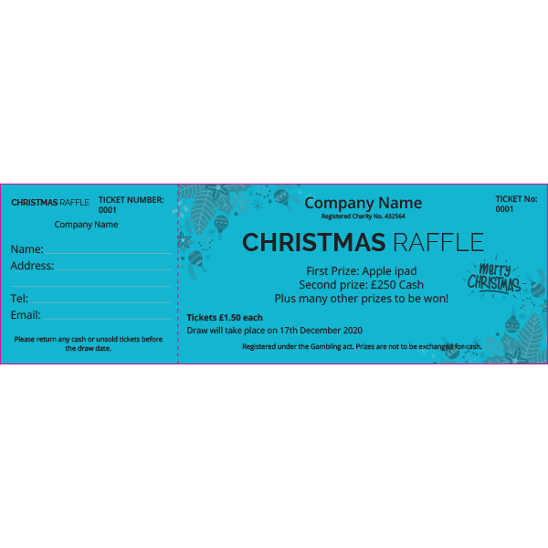 Christmas Ticket (Coloured Paper)