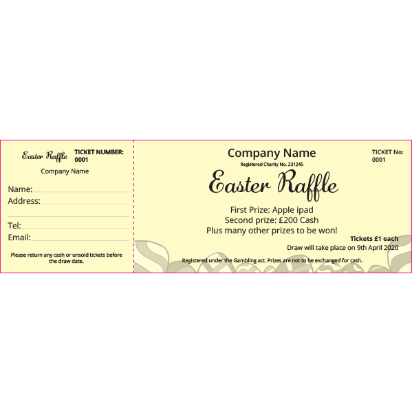 Easter Raffle 2 (Coloured Paper)