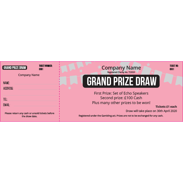 General Raffle Ticket 2 (Coloured Paper)
